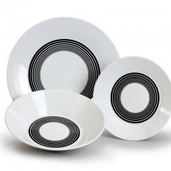 Lea tanierová súprava 18 D - čierne pruhy