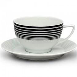 Lea čierne pruhy čajové nízke (155) - súprava