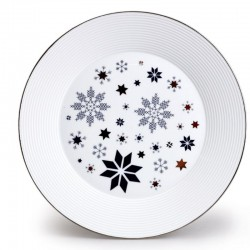 Lea tanier plytký 27 cm hviezda - modrá pl