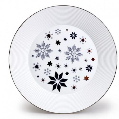Lea tanier plytký 27 cm hviezda - modrá platina