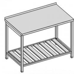 Pracovný stôl s roštovou policou