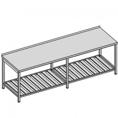 Pracovný stôl s roštovou policou dlhý