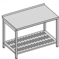 Pracovný stôl s perforovanou policou