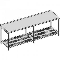 Pracovný stôl s perforovanou policou dlhý