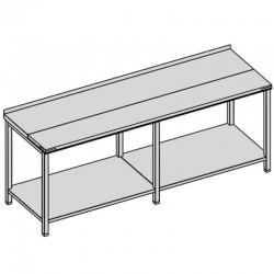 Pracovný stôl rozrábkový s policou dlhý