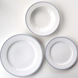 OPAL čipka sivá tanierová 18D