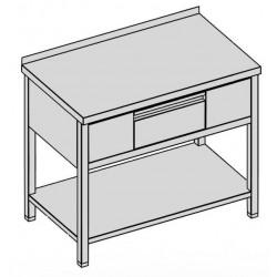 Prac. stôl s krytou zásuvkou a policou 100x60