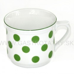 Hrnček varak - zelené bodky