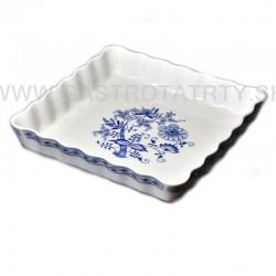 Miska 4 hranná 16 cm modrý kvet