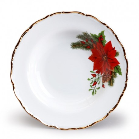 Vianočný tanier hlboký 23 cm