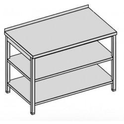 Pracovný stôl s dvoma policami 60x60