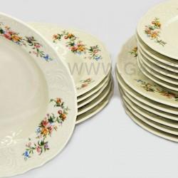 BERNADOTTE ivory farebné kvety tanierová súpr. 18 6 D