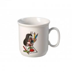 Krtko hrnček - farbičky (Gaston)