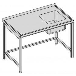 Umývací stôl s jedným drezom