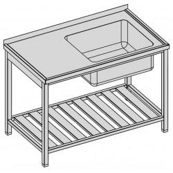 Umývací stôl s vaňou a roštom 130x70